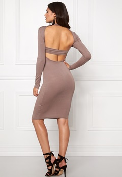 Club L High Neck Open Back Mocha Bubbleroom.se