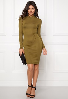 Club L High Neck Open Back Olive Bubbleroom.se