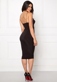 Club L Slinky Cami Strap Dress Black Bubbleroom.se