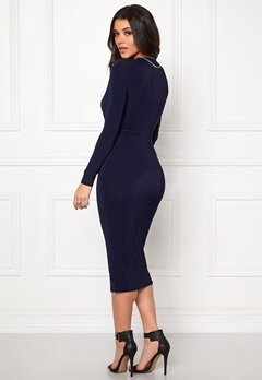 Club L Slinky Knot Midi Dress Navy Bubbleroom.se