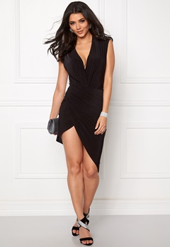 Club L Wrap It Around Bodycon Black Bubbleroom.se