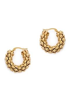 WOS Coco Hoops Earrings Guld Bubbleroom.se