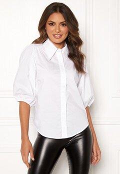 co'couture Briela Puff Sleeve Shirt White Bubbleroom.se