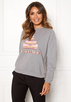 co couture Cocouture Stripe Sweater 139 Mid Grey Bubbleroom.se 50ae1b00f736e