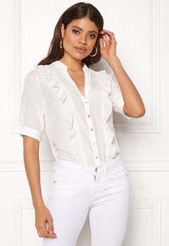 co'couture Essential Frill Shirt Off White Bubbleroom.se