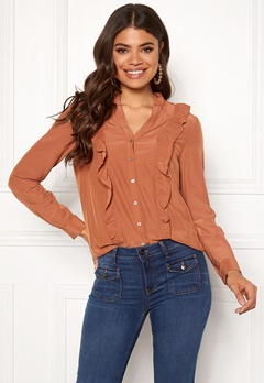 co'couture Florence Frill Shirt Peach Skin Bubbleroom.se