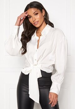 co'couture Remi Band Tie Shirt White Bubbleroom.se
