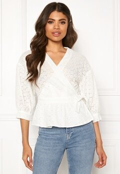 co'couture Trinetta Anglaise Shirt White Bubbleroom.se