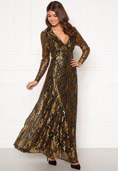 co'couture Turner Lace Dress Gold Bubbleroom.se