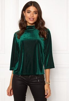 co'couture Velvet Grove Blouse 34 Green Bubbleroom.se