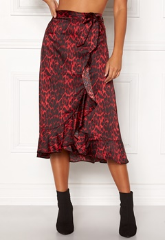co couture Red Animal Sateen Skirt Rio Red Bubbleroom.se ba6bc22e50279