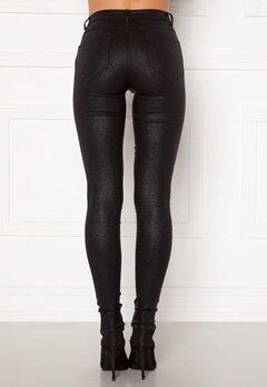 VILA Commit Glitter Coat Jeans Black Detail:Glitter Bubbleroom.se