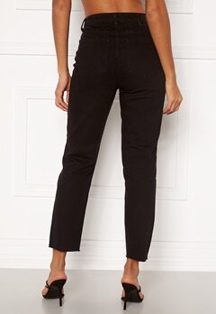 OBJECT Connie Cropped Jeans Black Bubbleroom.se