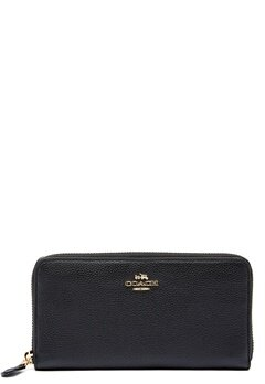 COACH Cordion Zip Around Wallet LIBLK Black Bubbleroom.se