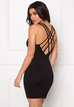 Club L Criss Cross Crepe Detail Black Bubbleroom.se