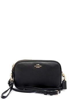 COACH Crossbody Clutch Leather LIBLK Black Bubbleroom.se