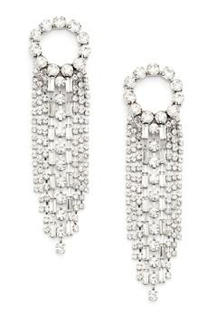 WOS Curtain Earrings Silver Bubbleroom.se