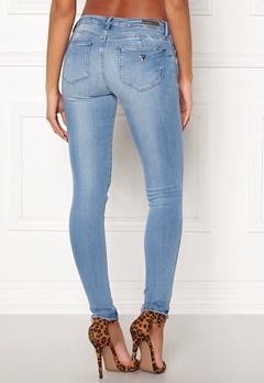 Guess Curve X Jeans Bleach Feather Bubbleroom.se