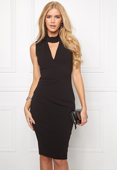 Goddiva Cutout High Neck Midi Black Bubbleroom.se