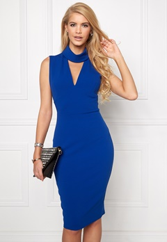 Goddiva Cutout High Neck Midi Royal Blue Bubbleroom.se
