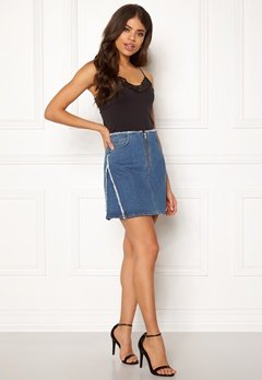 DAGMAR Fiona Skirt Washed Denim Bubbleroom.se
