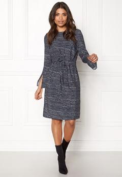 DAGMAR Martha Midi Dress Blurred stripe Bubbleroom.se