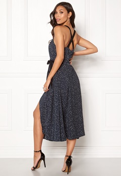 DAGMAR Scarla Dress Navy Dot Print Bubbleroom.se