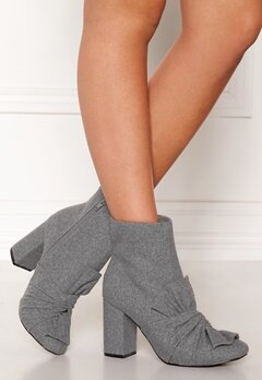 LOST INK Daisy Bow Ankel Boots Grey Bubbleroom.se