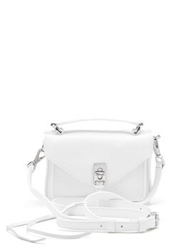 Rebecca Minkoff Darren Group Leather Bag 129 White/Silver Bubbleroom.se