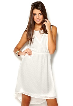 b.young Davie Dress 115 Off White Bubbleroom.no