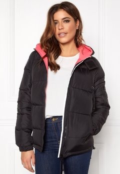 D.Brand Eskimå Jacket Black/Pink Bubbleroom.no