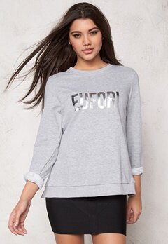 D.Brand Eufori Sweatshirt Grey Bubbleroom.no