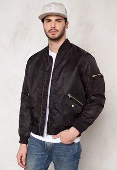 D.Brand Golden Zip Bomber Jacket Black Bubbleroom.se