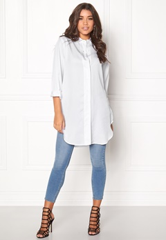 D.Brand Lilly Shirt Dress White Bubbleroom.fi