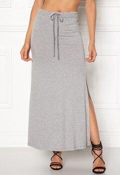 VILA Deana Maxi Skirt Light Grey Melange Bubbleroom.fi
