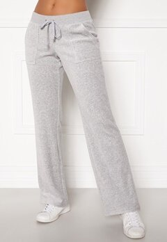 Juicy Couture Del Ray Classic Velour Pant Light Grey Marl Bubbleroom.se