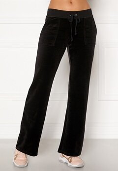 Juicy Couture Del Ray Classic Velour Pant Black Bubbleroom.se