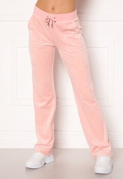 Juicy Couture Del Ray Classic Velour Pant Pale Pink Bubbleroom.se