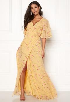 byTiMo Delicate Semi Wrap Dress 840 Yellow Poppy Bubbleroom.se