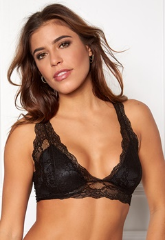 Pieces Delso padded lace bra Black Bubbleroom.no