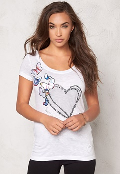 Desigual Electra Top Blanco Bubbleroom.no