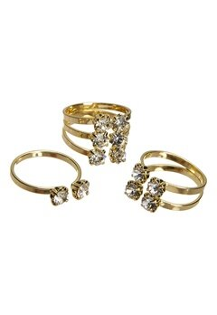 Pieces Diane rings Gold colour Bubbleroom.se