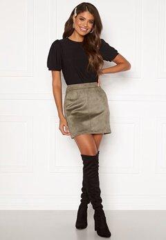 VERO MODA Donnadina Faux Suede Short Skirt Bungee Cord Bubbleroom.se