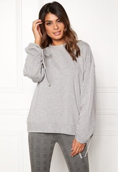 Dr. Denim Aisie Sweater Light Grey Mix Bubbleroom.se