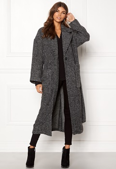 Dr. Denim Gigi Coat Grey Bone Bubbleroom.se