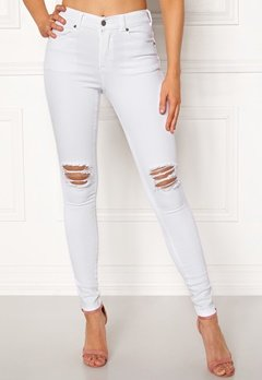 Dr. Denim Lexy White Ripped Knees Bubbleroom.se