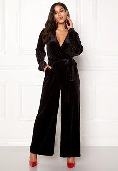 Dr. Denim Lucida Jumpsuit Black Velvet Bubbleroom.se
