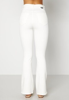 Dr. Denim Moxy Flare Off White Bubbleroom.se