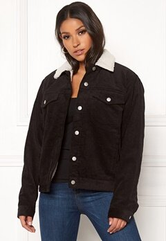 Dr. Denim Sana Sherpa Jacket Black Cord Bubbleroom.se