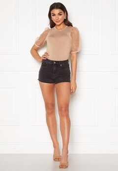 Dr. Denim Skye Shorts Retro Black Bubbleroom.se